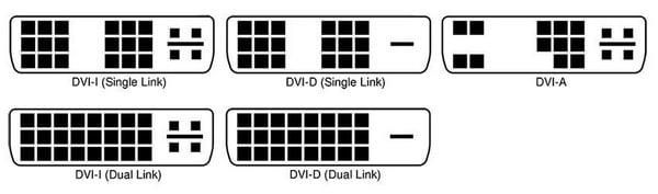 Различные линейки DVI