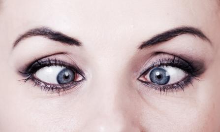 Сводим глаза на переносице