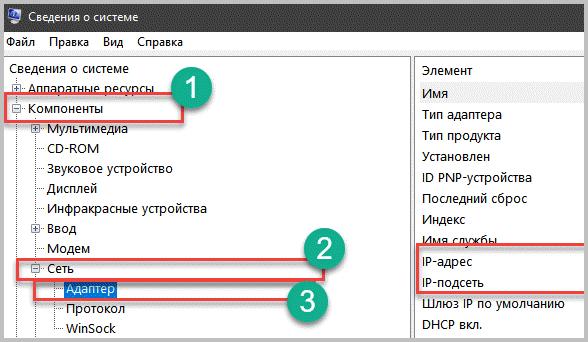 Информация об IP адресе