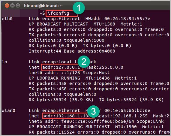 Поиск IP адреса в Ubuntu
