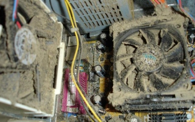 забитое грязью устройство
