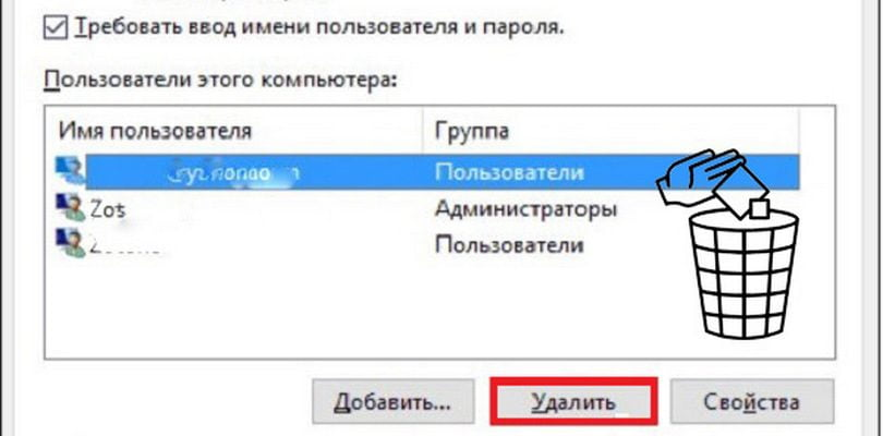 Удаление пользователя WIndows