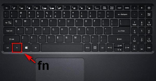 клавиша fn