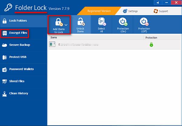Блокирование папок, файлов в Folder Lock
